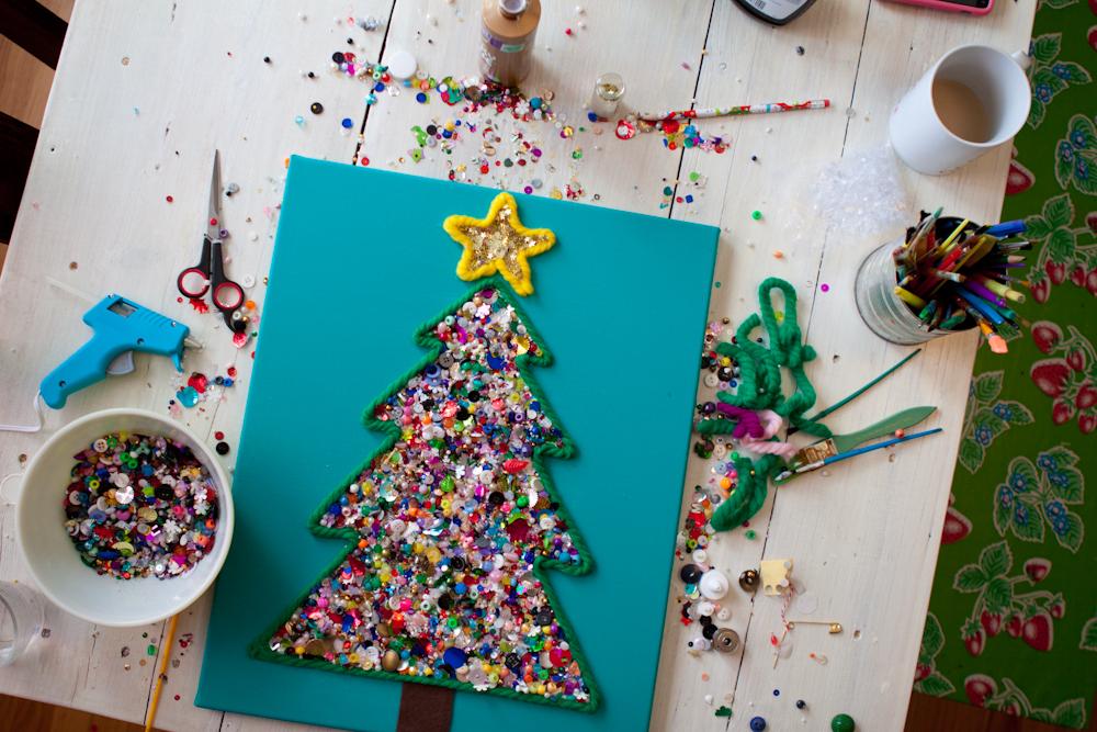 Делаем новогодние открытки вместе с детьми