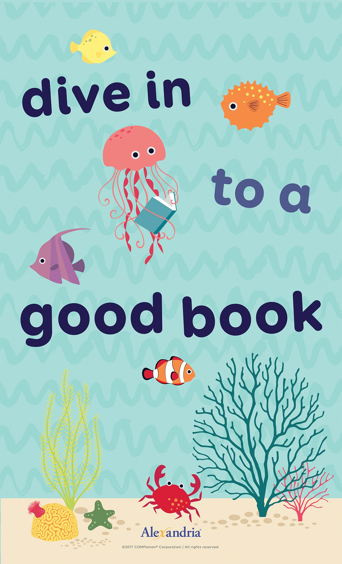 Alex-June posters-dive into a good book-squashed