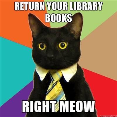 library book returns displays meme