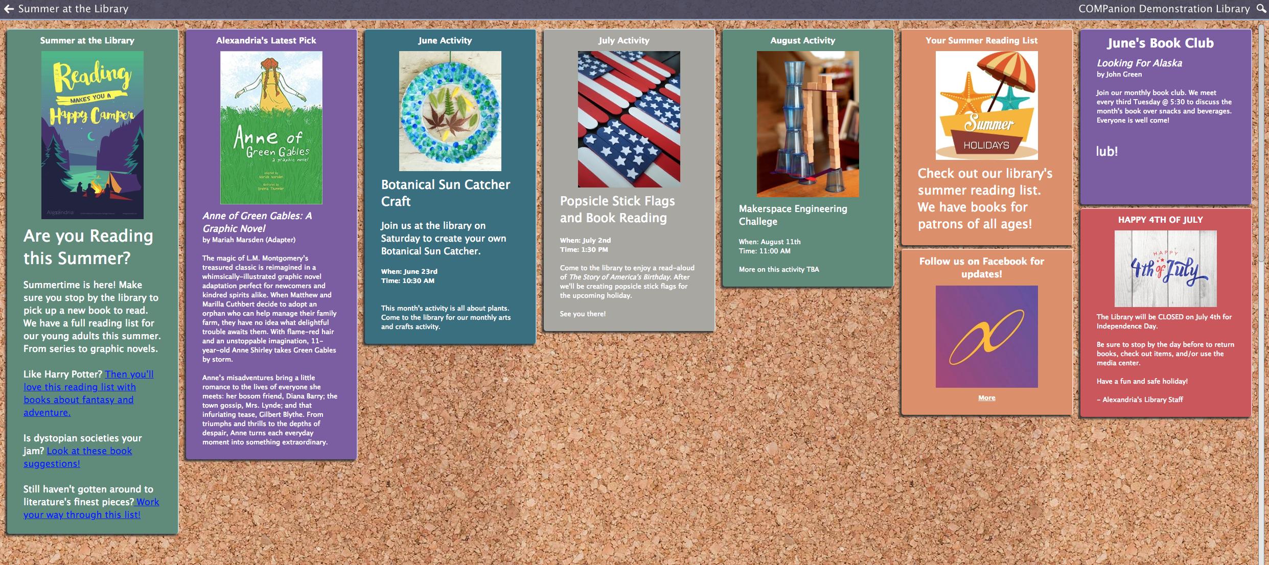 Alexandria Bulletin Board