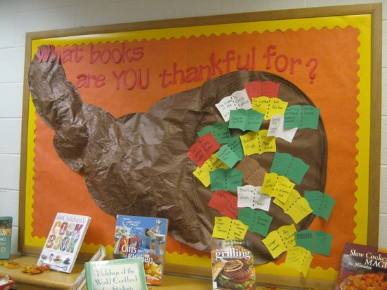 thanksgiving library displays