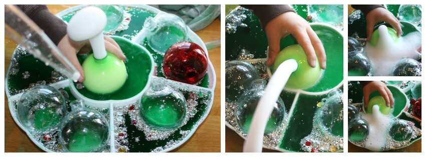 stem christmas library activity