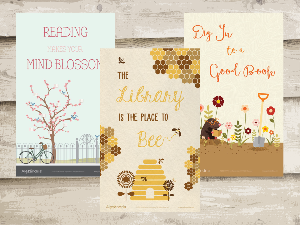 Springtime Reading Posters