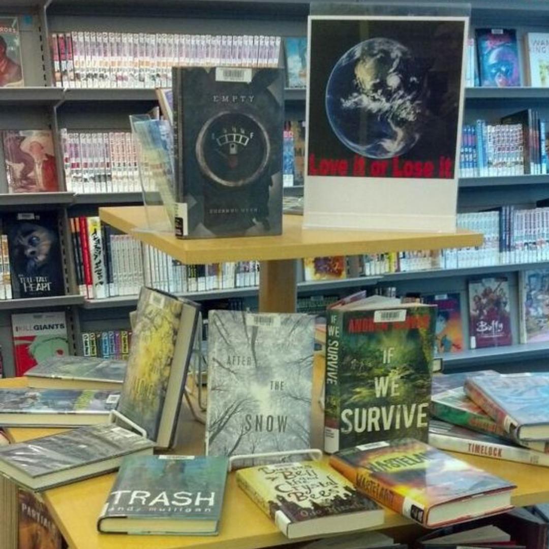Springtime Library Displays
