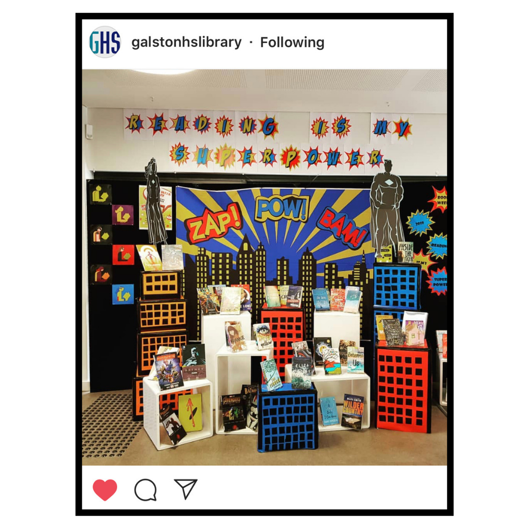 Back to school library displays