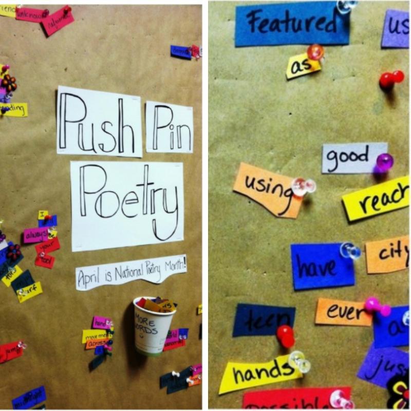 push pin poetry